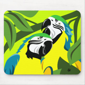 Decorative Macaw Mousepads