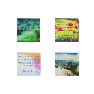 Decorative Magnets Set, with Quotes