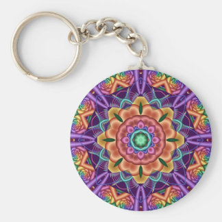 Decorative mandala /kaleidoscope keychain