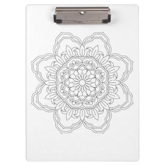 decorative mandala pattern ethnic flower clipboard