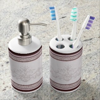 Decorative Maroon Bathroom Set