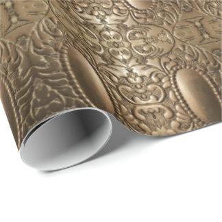 Decorative Metallic Antique Silver Elegant Chic Wrapping Paper