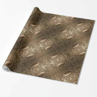 Decorative Metallic Antique Silver Elegant Pattern Wrapping Paper