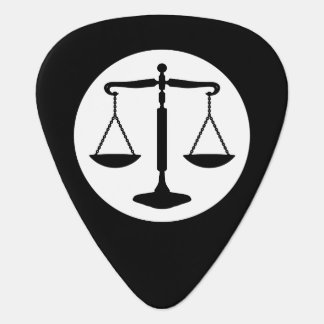 Decorative Monogram | Scales of Justice Plectrum