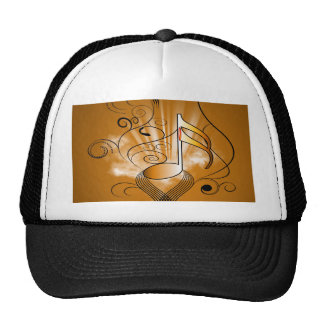 Decorative music note hat
