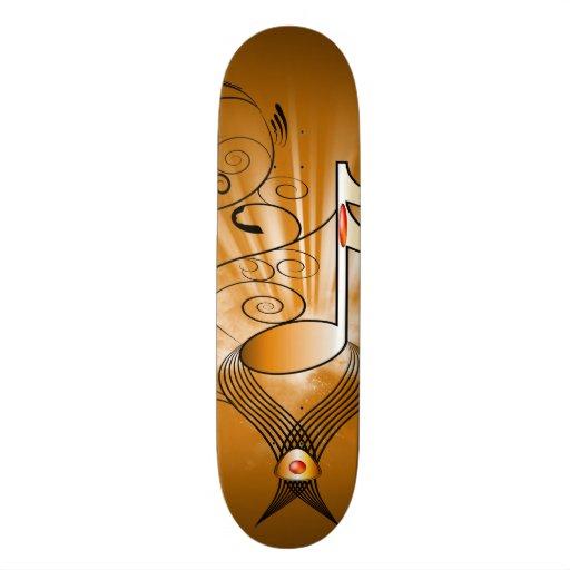 Decorative music note skateboards