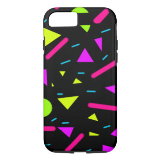 decorative neon colors and shapes iPhone 7 case