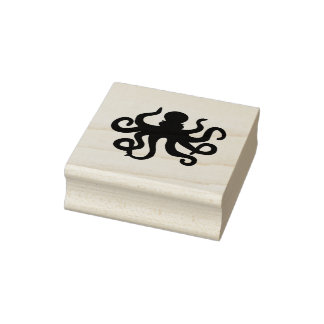 Decorative Octopus Rubber Stamp
