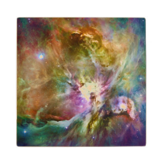 Decorative Orion Nebula Galaxy Space Photo Maple Wood Coaster