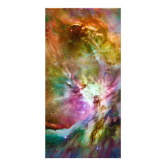 Decorative Orion Nebula Galaxy Space Photo Picture Card