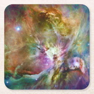 Decorative Orion Nebula Galaxy Space Photo Square Paper Coaster
