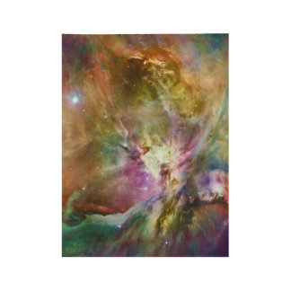 Decorative Orion Nebula Galaxy Space Photo Wood Poster