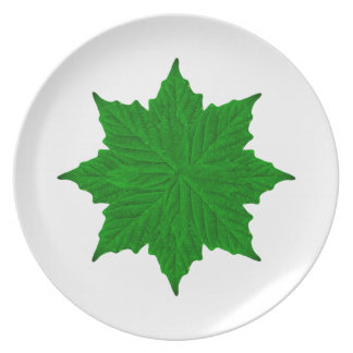 Decorative Ornament Isolated Plants Party Plates