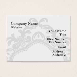 Decorative Ornamental Frame Black & White Business Card