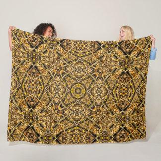 Decorative Outdoorsman Hunter Camo Mandala Fleece Blanket