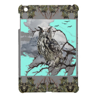 DECORATIVE OWL WILDERNESS GREY DESIGN COVER FOR THE iPad MINI