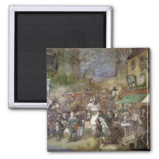 Decorative panel depicting Paris Square Magnet