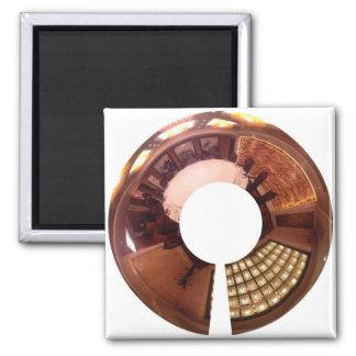 Decorative panoramic. Chinese interior design. Square Magnet