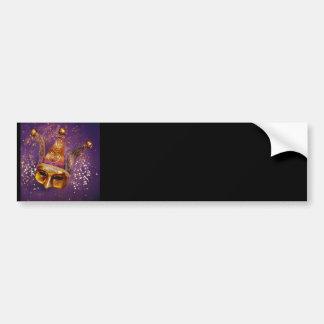 Decorative Party Mask Bumper Sticker