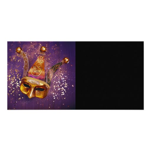 Decorative Party Mask Photo Card