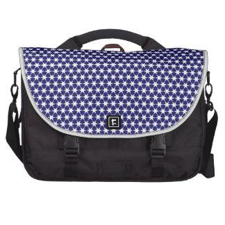 Decorative Pattern Blue Star motif Laptop Computer Bag
