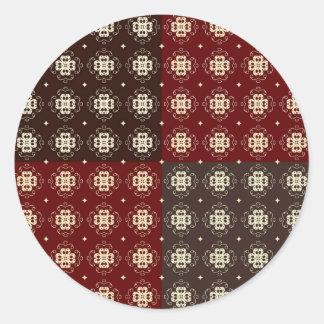 Decorative Pattern Classic Round Sticker