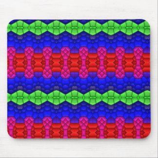Decorative pattern shapes mouse pad