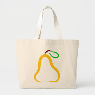 Decorative Pear Jumbo Tote Bag