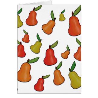 Decorative pears pattern card