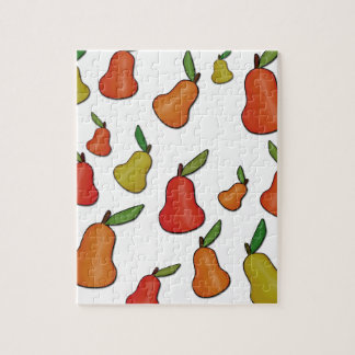 Decorative pears pattern jigsaw puzzle