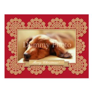 Decorative photo frame Christmas card Postcard