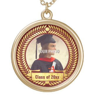 Decorative Photo Frame for Graduation Gold Plated Necklace