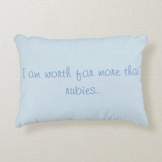 Decorative Pillow Proverbs Woman