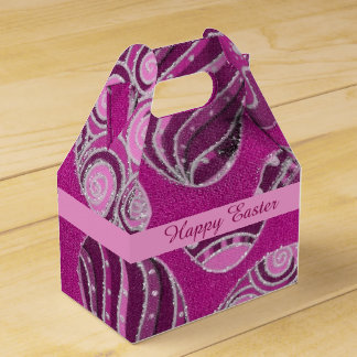 Decorative Pink Easter Eggs Gable Favor Box
