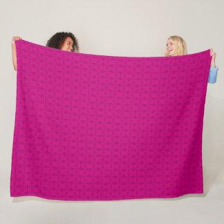 Decorative Pink Princess Diamonds Satin Pattern Fleece Blanket