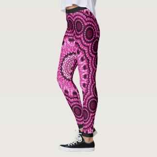 Decorative Pink & Purple Mandala Indie Leggings