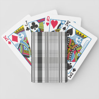 Decorative plaid pattern bicycle playing cards