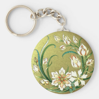 Decorative plants and flowers - Love Green Basic Round Button Key Ring