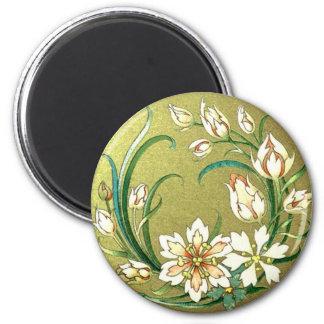 Decorative Plants & Flowers 6 Cm Round Magnet