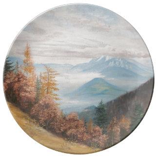 Decorative Plate Autum Colors Porcelain Plate