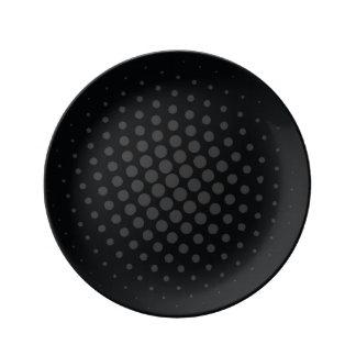 Decorative plate Black Dots Porcelain Plates