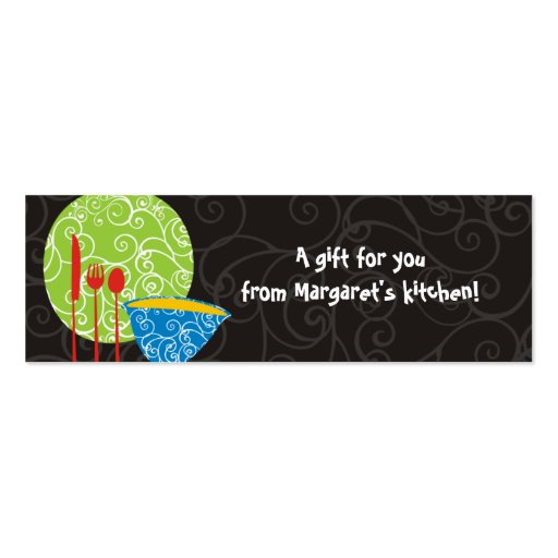 Decorative plate bowl utensils from my kitchen ... business card