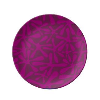 Decorative plate Forms Purple Porcelain Plates