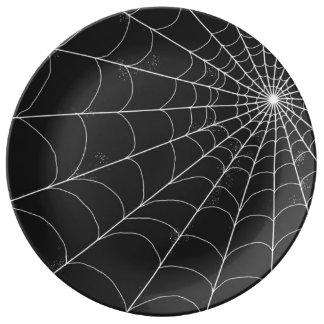 Decorative Plate - Spiderweb on Black