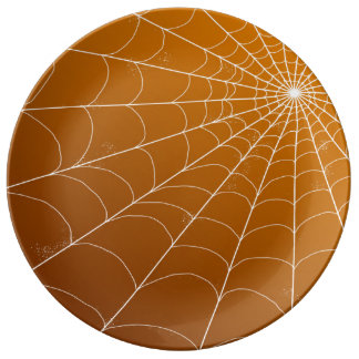 Decorative Plate - Spiderweb on Pumpkin