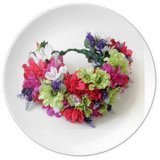 Decorative Porcelain Plate Floral Desgin