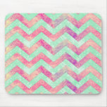 Decorative purple abstract mint green pink chevron
