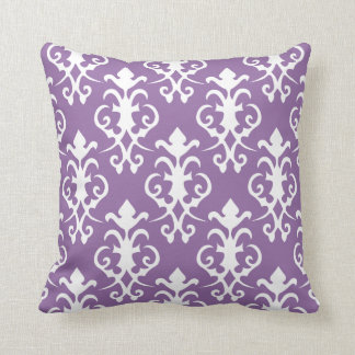 Decorative Purple Damask Pillow
