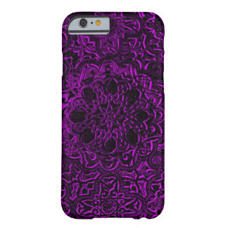 Decorative Purple Demon Lotus Mandala Art iPhone Barely There iPhone 6 Case