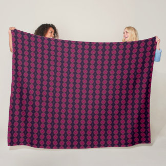 Decorative Raspberry Wine Satin Plush Pattern Fleece Blanket